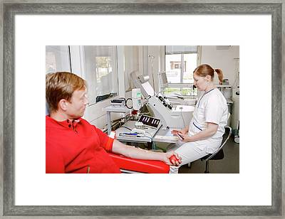 Blood Donation Clinic Framed Print