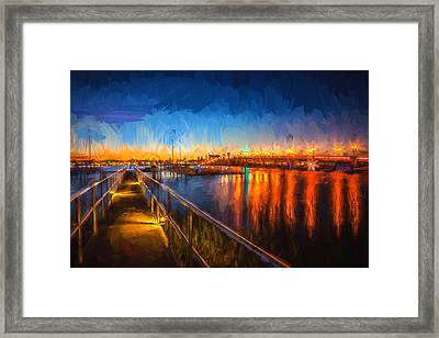 Bridge Of Lions St Augustine Florida Painted  Framed Print
