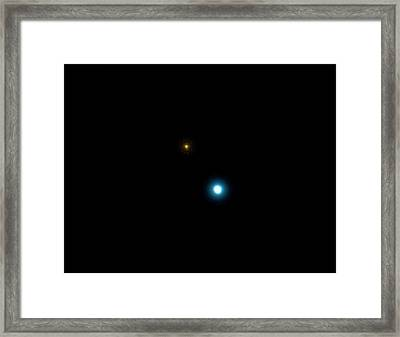 17 Cygni Binary Star System Framed Print by Damian Peach