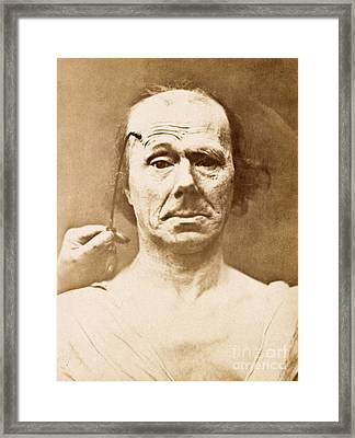 Duchenne's Physiognomy Studies, 1860s Framed Print by Miriam And Ira D. Wallach Division Of Art, Prints And Photographs