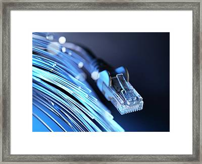 Fibre Optics Framed Print by Tek Image