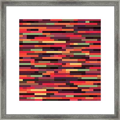 Framed Print featuring the digital art Geometric by Mike Taylor