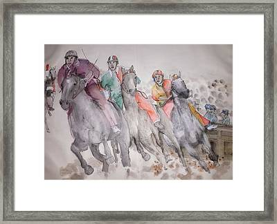 Going To Siena For Il Palio Album  Framed Print