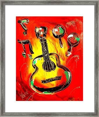 Guitar Framed Print by Mark Kazav