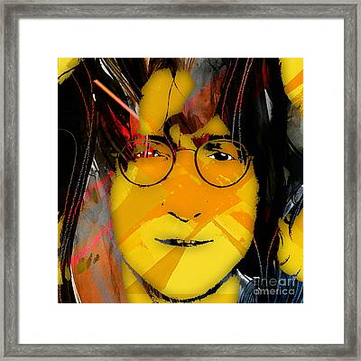 John Lennon Collection Framed Print