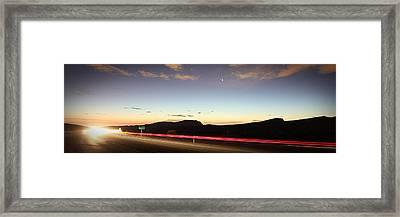 17 Miles To Vegas Framed Print