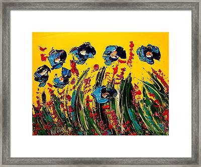 Poppies Framed Print by Mark Kazav