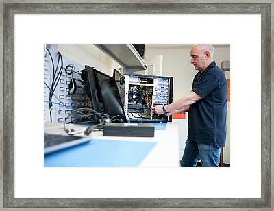 Recycling Centre Workplace Charity Framed Print by Lewis Houghton/science Photo Library