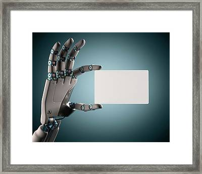 Robotic Hand Framed Print by Ktsdesign