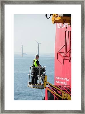 The Jack Up Barge Framed Print by Ashley Cooper