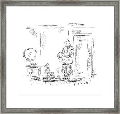 Daddy Doesn't Ride His Bike For Fun - Daddy Rides Framed Print