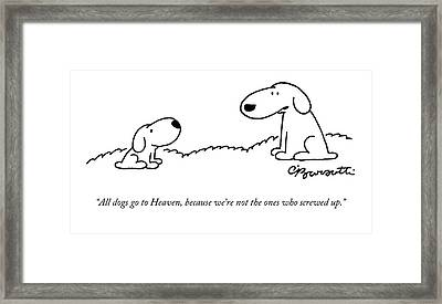 All Dogs Go To Heaven Framed Print