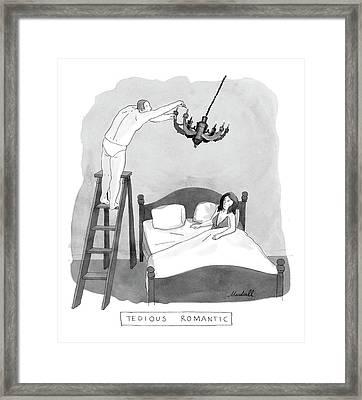Tedious Romantic Framed Print by Marshall Hopkins