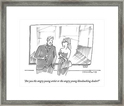 Are You The Angry Young Artist Or The Angry Young Framed Print by Michael Crawford
