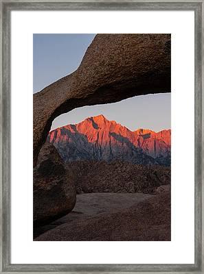 Usa, California, Alabama Hills Framed Print