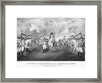 Yorktown: Surrender, 1781 Framed Print by Granger