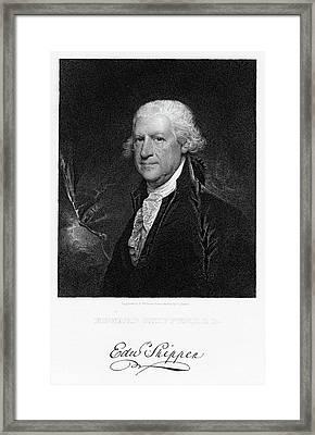 1700s 1702 Edward Shippen The First Framed Print