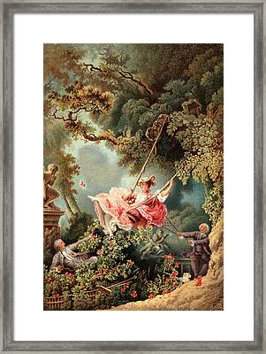1700s 1767 The Swing By French Painter Framed Print