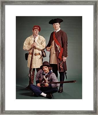 1700s 1776 Colonial Militiamen Framed Print