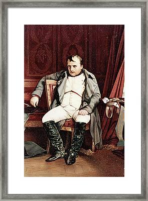 1700s 1800s Napoleon Bonaparte Seated Framed Print
