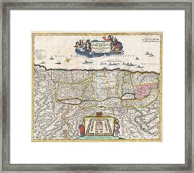 1720 Funck Map Of Israel  Palestine Holy Land Framed Print by Paul Fearn