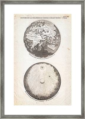 1728 Calmet Map Of The Ancient World Showing The Creation Of The Universe Geographicus Ancientworld  Framed Print by MotionAge Designs
