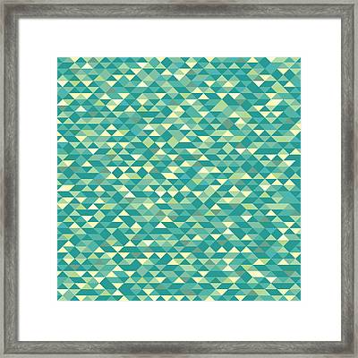 Framed Print featuring the digital art Pixel Art by Mike Taylor