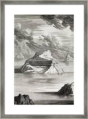1731 Noahs Ark Arc On Mt. Carmel Framed Print by Paul D Stewart