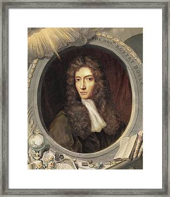 1739 Robert Boyle Portrait Colour Crop Framed Print by Paul D Stewart