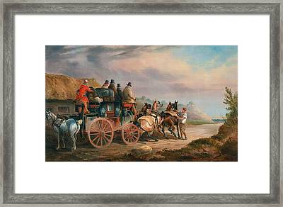 Changing Horses To A Post Chaise Framed Print by MotionAge Designs