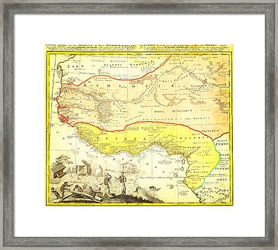 1743 Homann Heirs Map Of West Africa Slave Trade References Guinea Geographicus Aethiopia Hmhr 1743 Framed Print