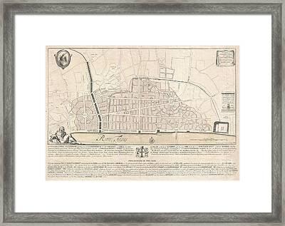 1744 Wren Map Of London Framed Print