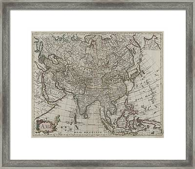 1745 Asia Map Framed Print