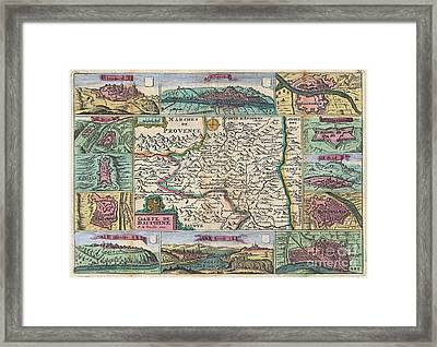 1747 La Feuille Map Of Dauphine  Framed Print by Paul Fearn