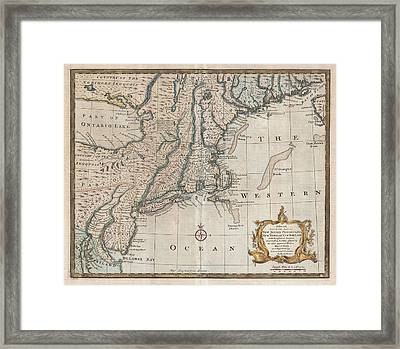 1747 New Jersey Map Framed Print