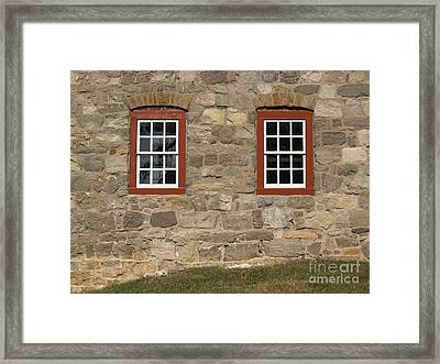 1748 Fieldstone And Windows -- Moravian College Framed Print by Anna Lisa Yoder