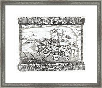 1750 Schley Map Of Ormus Persian Gulf Framed Print by Paul Fearn
