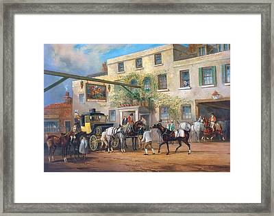 Mail Coaches On The Road- Framed Print by MotionAge Designs
