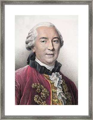 1761 Contemporary Portrait Comte Buffon Framed Print by Paul D Stewart