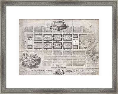 1768 James Craig Map Of New Town Edinburgh Scotland  Framed Print
