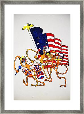 1776 Happy People Framed Print by Glenn Calloway