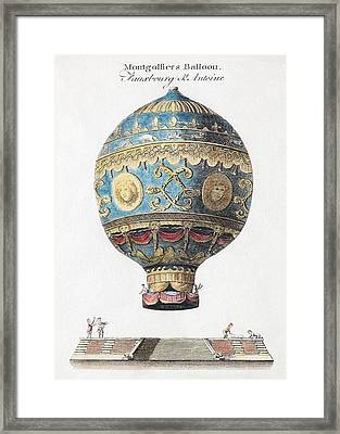1783 Montgolfiers First Manned Balloon Framed Print