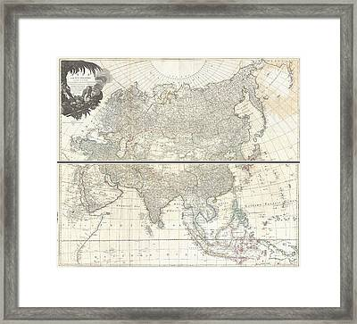 1784 D Anville Wall Map Of Asia Framed Print