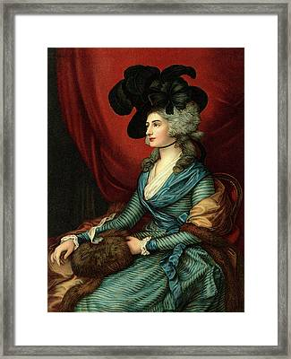 1785 Portrait Of Sarah Siddons A Welsh Framed Print