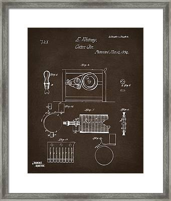1794 Eli Whitney Cotton Gin Patent 2 Espresso Framed Print by Nikki Marie Smith