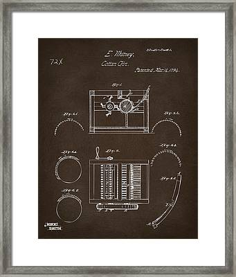 1794 Eli Whitney Cotton Gin Patent Espresso Framed Print by Nikki Marie Smith