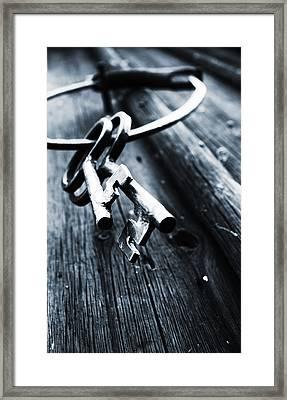 17th Centure House Keys Framed Print