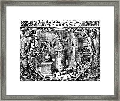 17th Century Alchemist's Laboratory Framed Print by Cci Archives