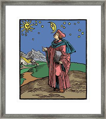 17th Century Astronomer Framed Print