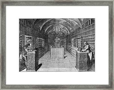 17th Century German Pharmacy Framed Print by Cci Archives